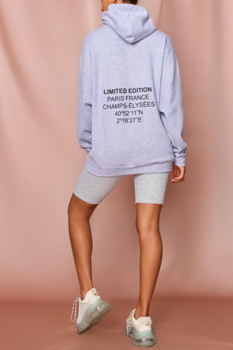 Limited Edition Paris Oversized Hoodie