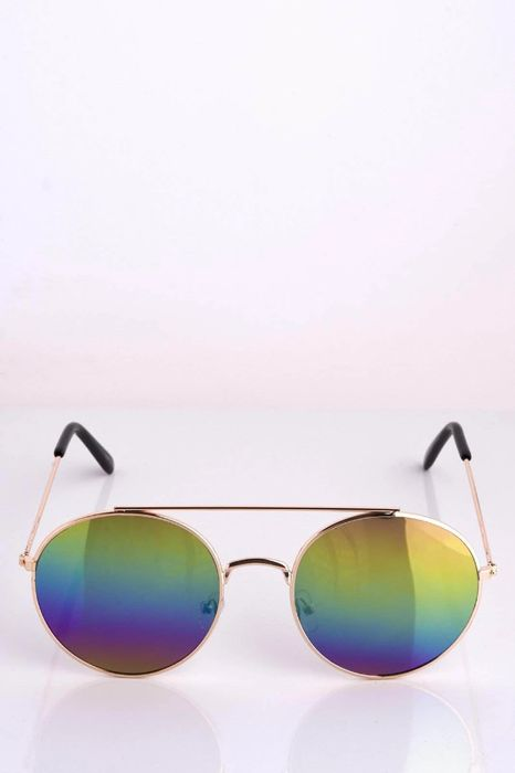 Cheap Rainbow Tinted round Sunglasses - Huge Saving!