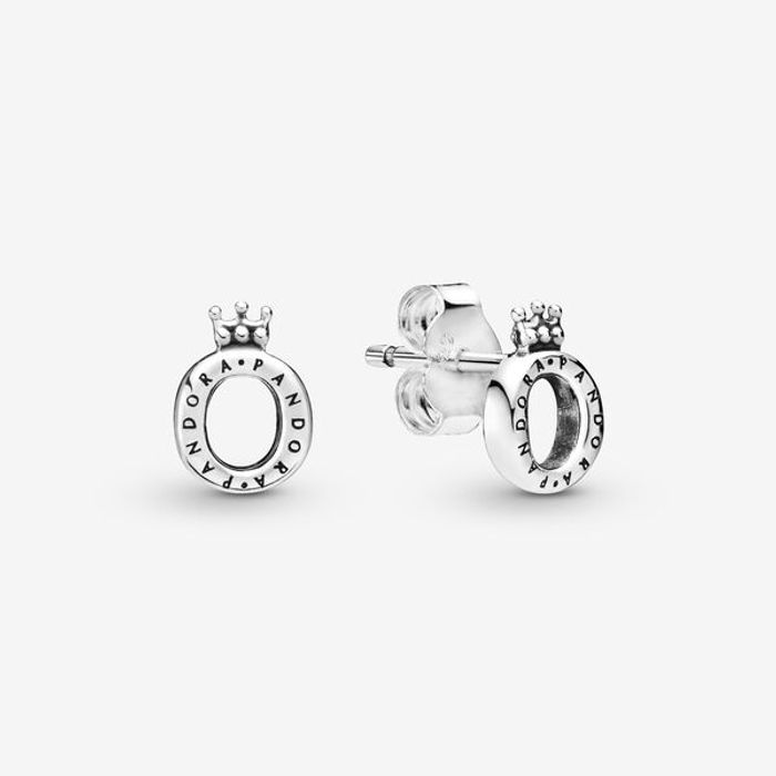 Cheap Polished Crown O Stud Earrings - Only £30!