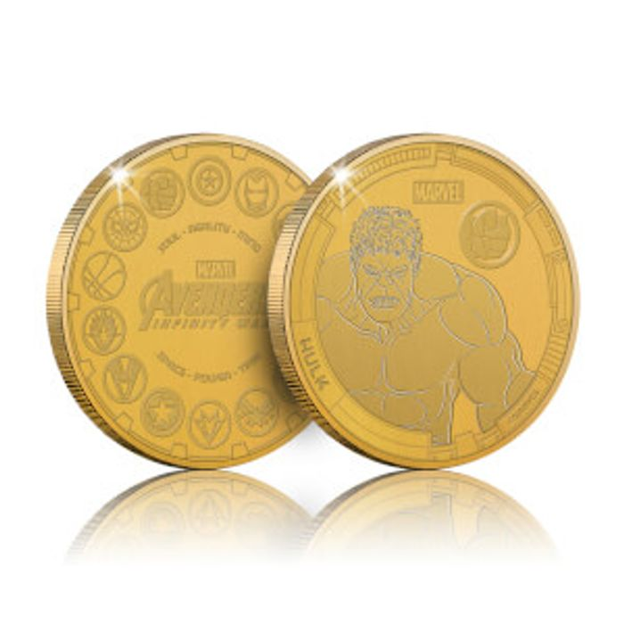 Collectable Marvel Infinity War Commemorative Coin: Hulk - Zavvi Exclusive