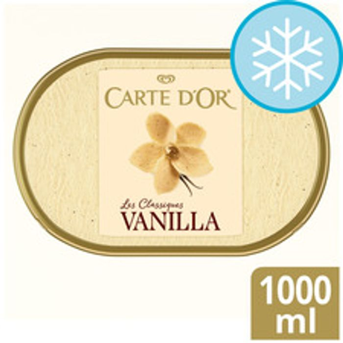 Carte D'or Vanilla Ice Cream Dessert 1L (all flavours)