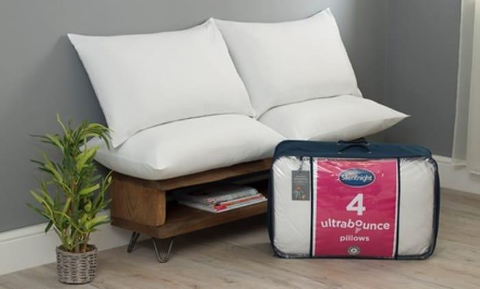 Four Silentnight Ultrabounce Pillows