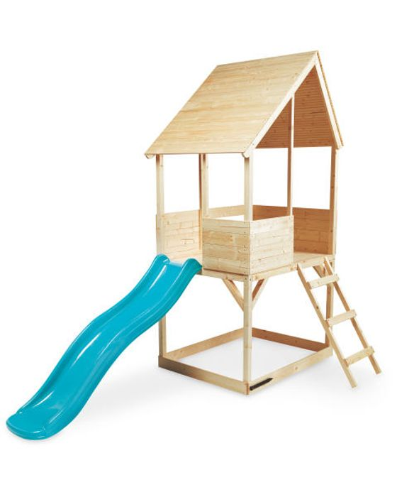 Kids' Wooden Playhouse with Slide Only £174.99
