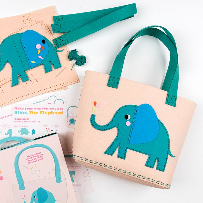 Kids Sew Your Own Elephant Tote Bag