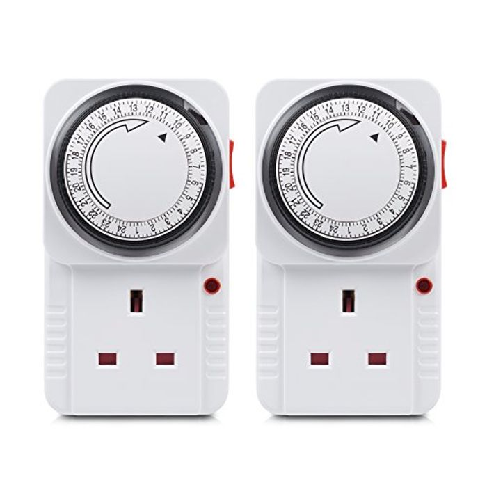 40% off HBN Plug-in Energy Saving Programmable Mechanical Timer Switch 2 Pack