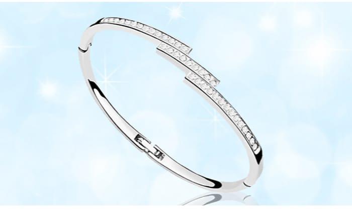 CHEAP! Swarovski Elements Triple Crystal Row Bracelet + EXTRA 10% Off