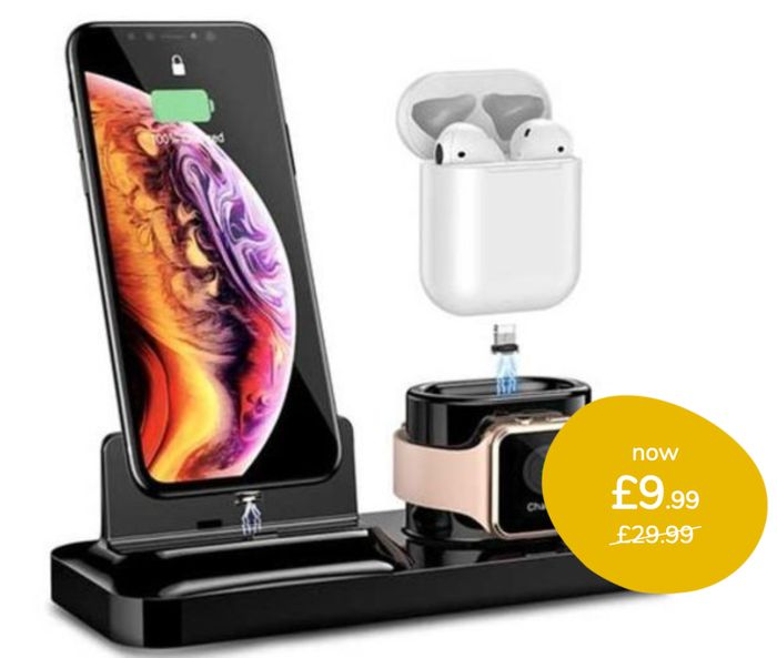 CHEAP! 3-in-1 Charging Dock for iPhone, Airpods & Apple Watch