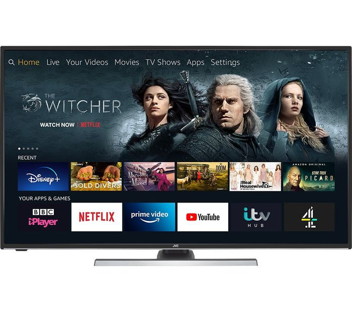 "JVC Fire TV Edition 40"" Smart 4K Ultra HD HDR LED TV with Amazon Alexa"