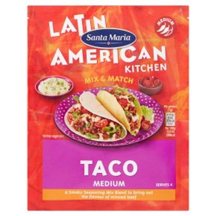 Santa Maria Medium Taco Mix28g