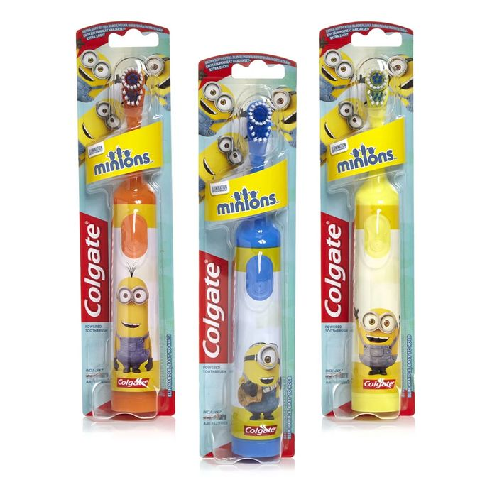 Colgate Extra Soft Battery Kids' Minions Toothbrush, Half price,Wilko