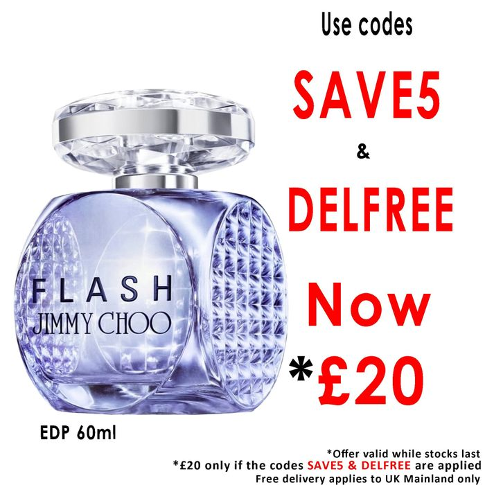 Jimmy Choo Flash EDP 60ml £20 Delivered Using Codes + Free Sample at Beauty Base