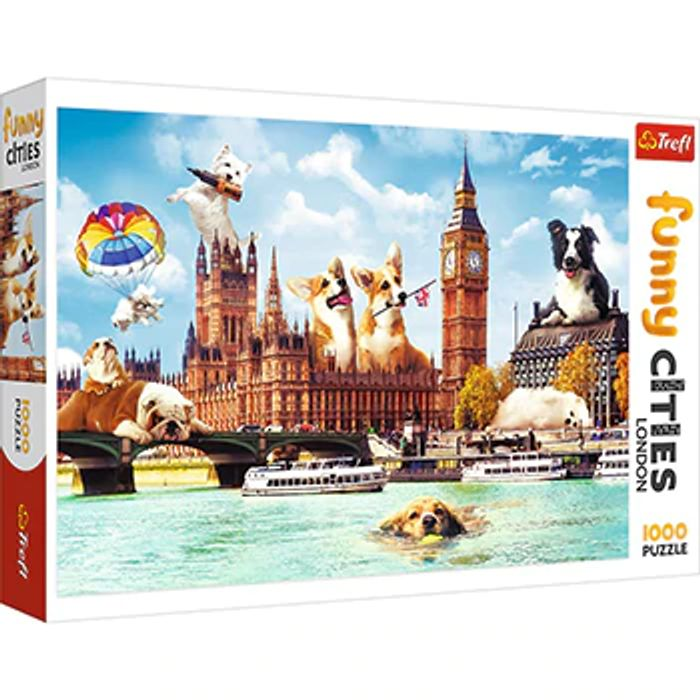 1000 Piece Dogs in London Jigsaw Puzzle