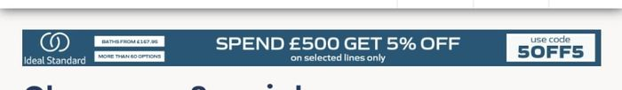Spend £500 and Get 5% Off