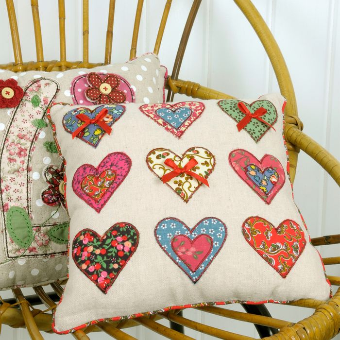 Cheap Patchwork Hearts Cushion Only £3.95