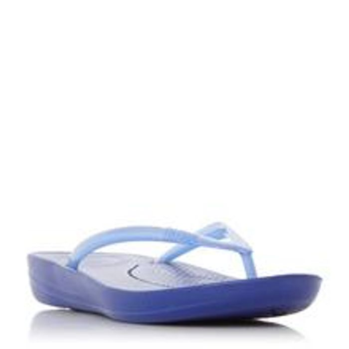 Fitflop Iqushion Pearli - Blue Croc-Effect Flip Flop - Only £15!