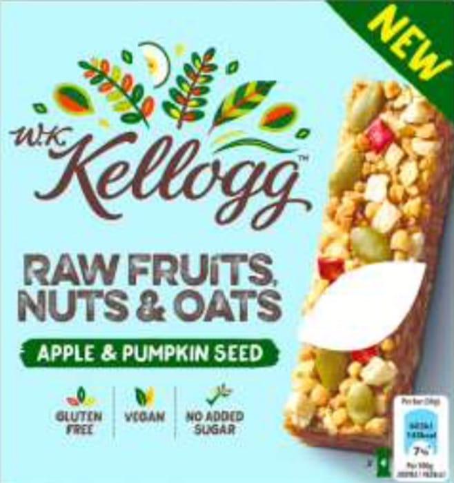 Free WK Kellogg Apple & Pumpkin Bars 4x30g & 1p Profit at Tesco via Quidco CS