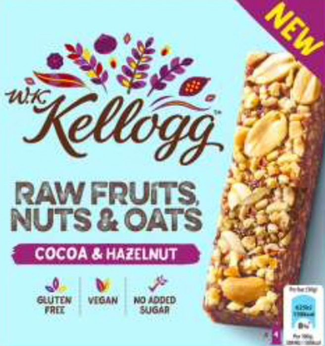 Free WK Kellogg Cocoa & Hazelnut Bars 4x30g & 1p Profit at Tesco via Quidco CS
