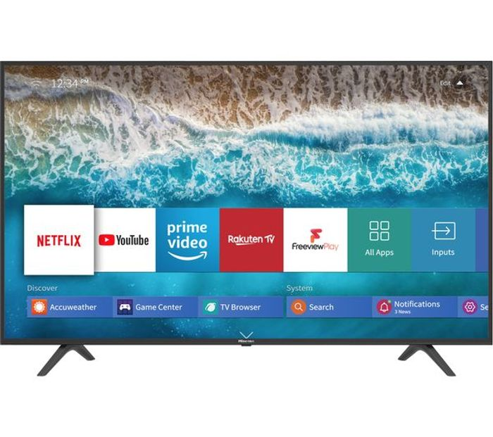 "Cheap HISENSE 55"" Smart 4K Ultra HD HDR LED TV - Save £20!"