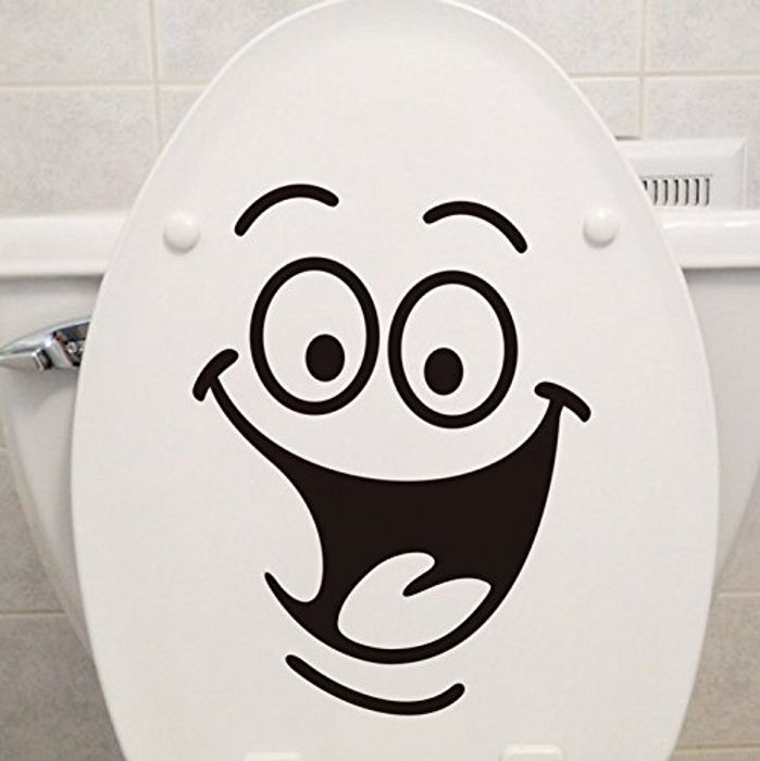 Toilet Stickers Wall Art Decal Removable DIY at Amazon