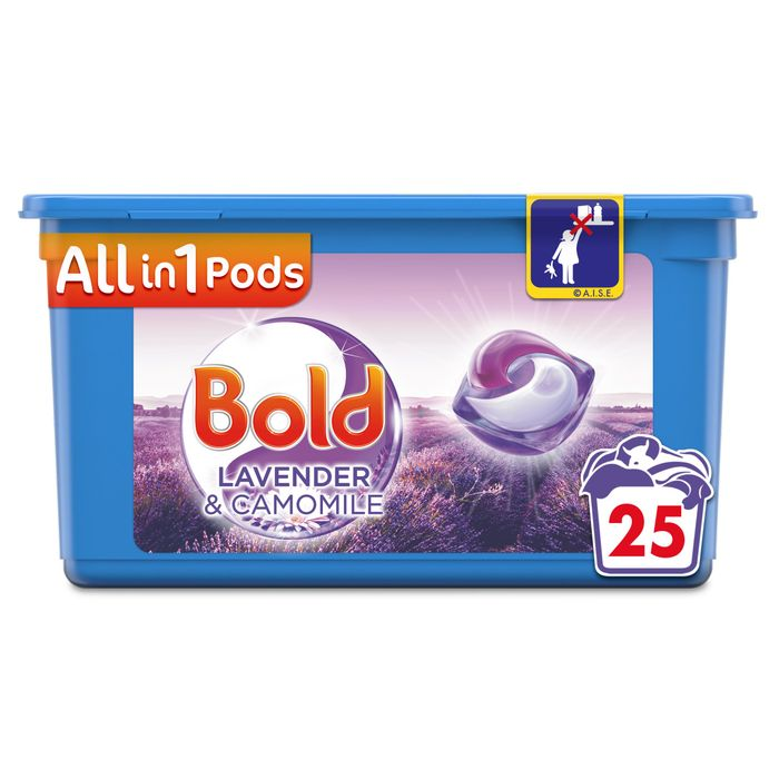 Bold All in One Washing Pods Lavender & Camomile 25 Washes 602.5G