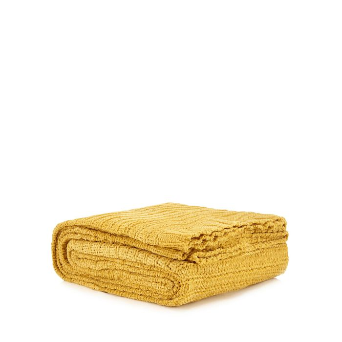 Yellow Chenille Throw + Free Delivery Code SH7W