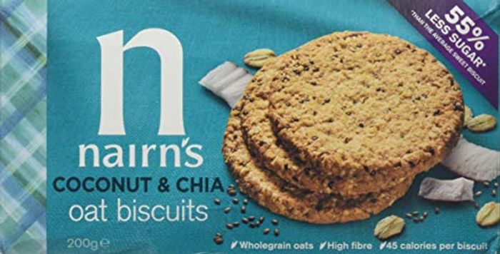 Nairn's Coconut and Chia Oat Biscuit, 200 G