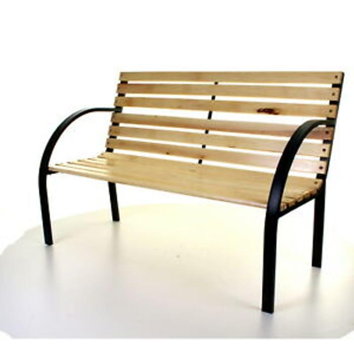 Wooden Slatted Garden Bench for £42.99 Delivered