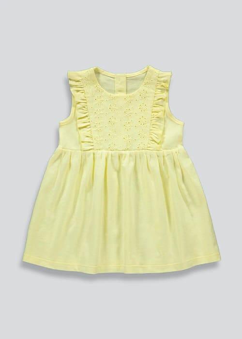 Girls Lemon Sleeveless Dress Only £3.5