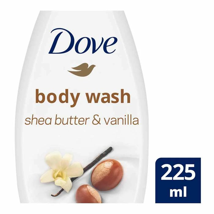 Dove Body Wash Shea Butter/Vanilla 225ml - HALF PRICE