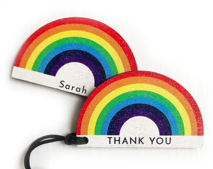 Charity Rainbow Thankyou Keyrings