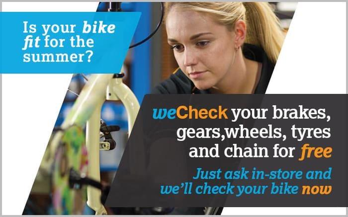 Halfords : FREE 32 point bike checks
