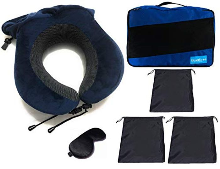Price Drop! Best Offer- Clothes Storage Bags with Neck Pillow 6 Pcs