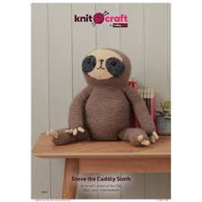 Knitcraft Steve the Sloth Pattern 0142