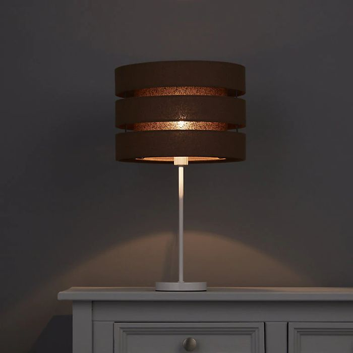 Colours Trio Chocolate Brown 3 Tier Light Shade