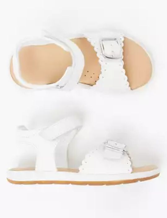 25% off Kids Scalloped Leather M&S Sandals