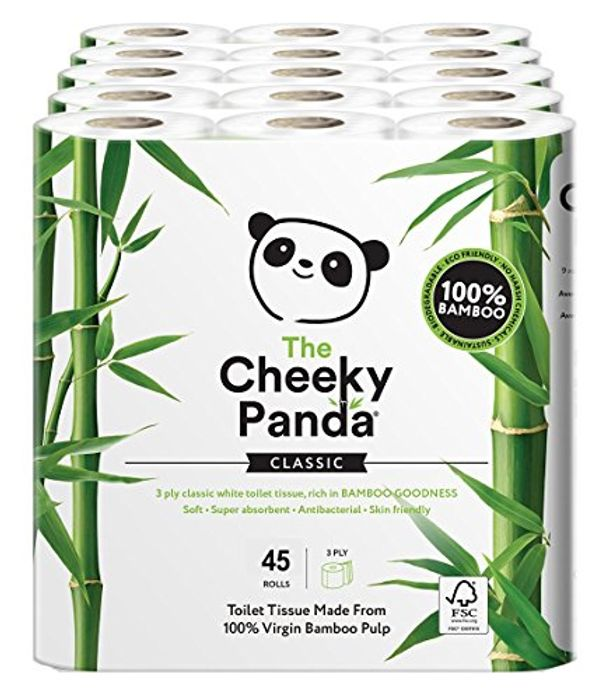 The Cheeky Panda Ultra Sustainable Hypoallergenic 100% Bamboo Toilet Roll