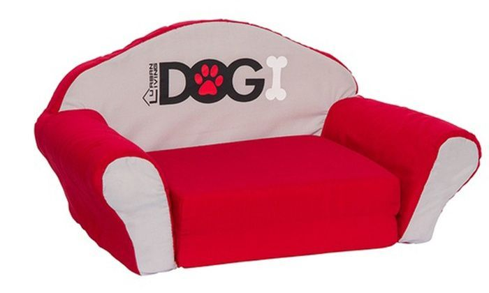Dogi Fold-out Dog Sofa Bed in Large Red