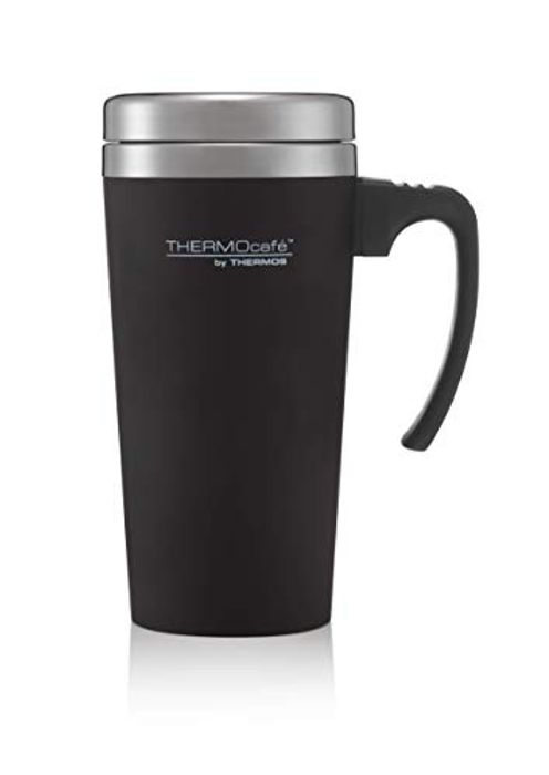 CHEAP! Thermos ThermoCaf Soft Touch Travel Mug, Black, 420 Ml