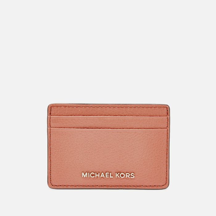 Cheap MICHAEL KORS Women's Jet Set Card Holder - Sunset Peach Only £32!
