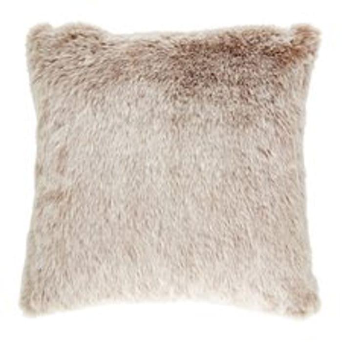 Tesco Faux Fur Cushion Natural HALF PRICE
