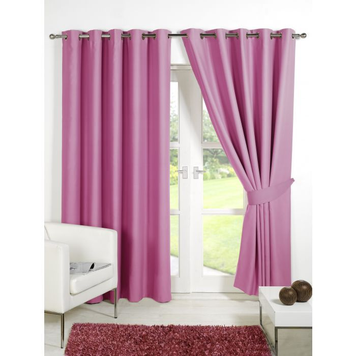 """Thermal Blackout Curtains 66""""108"""" Pink - Save £16.5"""