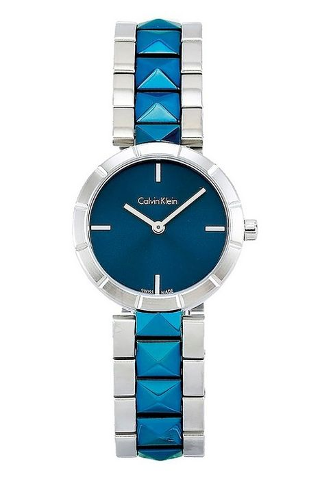 Calvin Klein Edge Blue Large Studded Watch at Studio