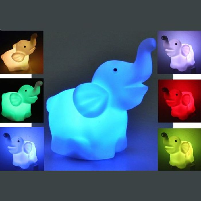 Elephant LED 7 Color Changing Night Light - Only £2.14!