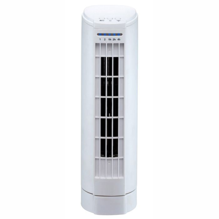 "Daewoo COL1117GE 15"" Mini Tower Fan in White, 2 Speed Settings & Timer"