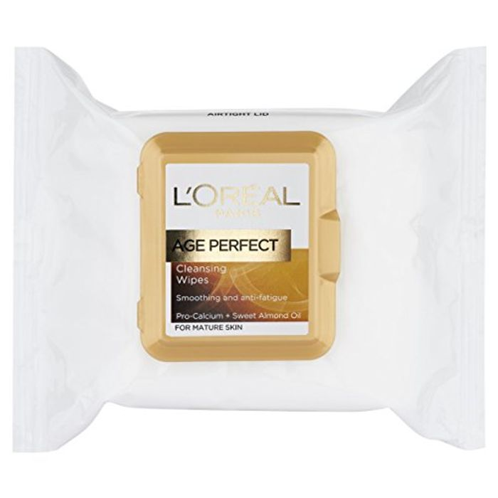 Special Offer - L'Oreal Paris Age Perfect Cleansing Wipes (Additional 20% S&S)