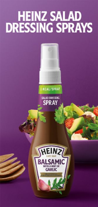 New from Heinz Salad Dressing Sprays - Four Flavours