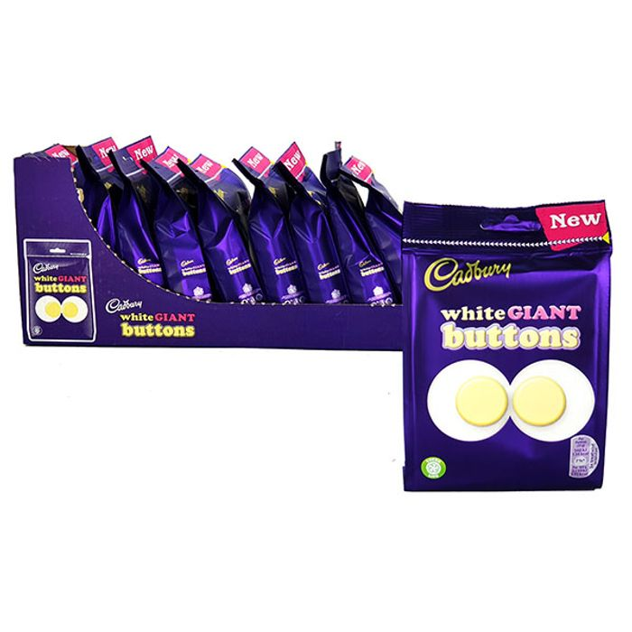 10 X CADBURY WHITE GIANT BUTTONS 110G BAGS Only £10