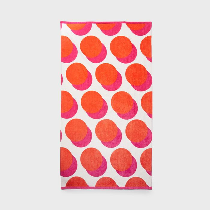 Cheap Pink Spotted Cotton Beach Towel - Only £6!