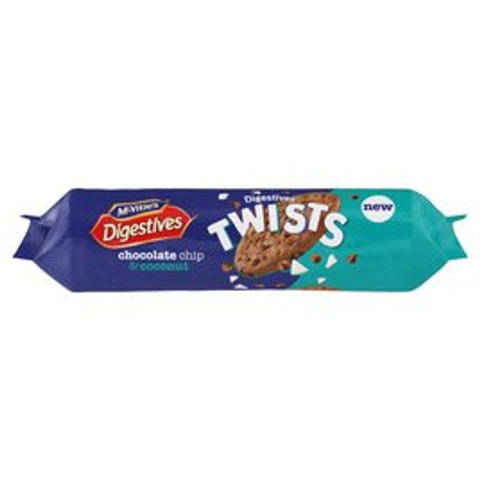 McVitie's Digestives Twists Chocolate Chip & Coconut 276g