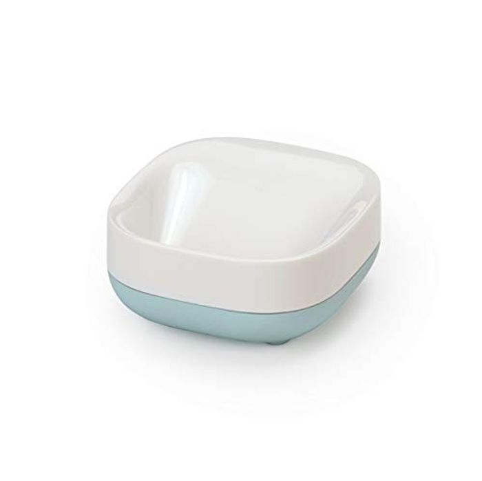 Best Price! Joseph Joseph Bathroom Slim Compact Soap Dish, White/Blue